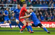 11 May 2019; Owen Farrell of Saracens is tackled by Robbie Henshaw of Leinster during the Heineken Champions Cup Final match between Leinster and Saracens at St James' Park in Newcastle Upon Tyne, England. Photo by Brendan Moran/Sportsfile