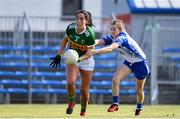 11 May 2019; Aislinn Desmond of Kerry in action against Aileen Wall of Waterford during the TG4  Munster Ladies Football Senior Championship match between Kerry and Waterford at Cusack Park in Ennis, Clare. Photo by Sam Barnes/Sportsfile
