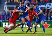 11 May 2019; Seán Cronin of Leinster is tackled by Billy Vunipola and Brad Barritt of Saracens during the Heineken Champions Cup Final match between Leinster and Saracens at St James' Park in Newcastle Upon Tyne, England. Photo by Brendan Moran/Sportsfile