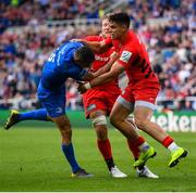 11 May 2019; Rob Kearney of Leinster is tackled by Sean Maitland of Saracens during the Heineken Champions Cup Final match between Leinster and Saracens at St James' Park in Newcastle Upon Tyne, England. Photo by Ramsey Cardy/Sportsfile