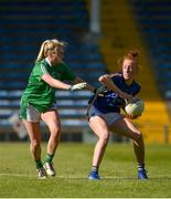 11 May 2019; Aishling Moloney of Tipperary in action against Megan O'Shea of Limerick during the Munster Ladies Football Intermediate Championship match between Tipperary and Limerick at Semple Stadium in Thurles, Co. Tipperary. Photo by Diarmuid Greene/Sportsfile