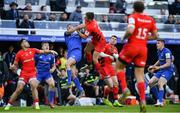 11 May 2019; Owen Farrell of Saracens in action against Rob Kearney of Leinster during the Heineken Champions Cup Final match between Leinster and Saracens at St James' Park in Newcastle Upon Tyne, England. Photo by Brendan Moran/Sportsfile