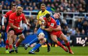 11 May 2019; Alex Lozowski of Saracens is tackled by James Ryan of Leinster during the Heineken Champions Cup Final match between Leinster and Saracens at St James' Park in Newcastle Upon Tyne, England. Photo by Brendan Moran/Sportsfile