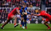 11 May 2019; Robbie Henshaw of Leinster is tackled by Will Skelton, left, and Richard Barrington of Saracens during the Heineken Champions Cup Final match between Leinster and Saracens at St James' Park in Newcastle Upon Tyne, England. Photo by Ramsey Cardy/Sportsfile