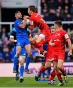 11 May 2019; Rob Kearney of Leinster in action against Liam Williams of Saracens during the Heineken Champions Cup Final match between Leinster and Saracens at St James' Park in Newcastle Upon Tyne, England. Photo by Ramsey Cardy/Sportsfile