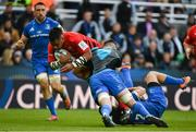 11 May 2019; Billy Vunipola of Saracens is tackled by James Ryan and Robbie Henshaw of Leinster during the Heineken Champions Cup Final match between Leinster and Saracens at St James' Park in Newcastle Upon Tyne, England. Photo by Brendan Moran/Sportsfile