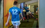 11 May 2019; Tipperary players including Daire Brennan, right, and Brian Fox warm up in the tunnel prior to the Munster GAA Football Senior Championship quarter-final match between Tipperary and Limerick at Semple Stadium in Thurles, Co. Tipperary. Photo by Diarmuid Greene/Sportsfile