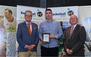 11 May 2019; Ciaran O'Sullivan collects the Men's Division One Player of the Year award on behalf of Andre Nation of Tradehouse Central Ballincollig during the Basketball Ireland 2018/19 Annual Awards and Hall of Fame at the Cusack Suite, Croke Park in Dublin. Photo by Piaras Ó Mídheach/Sportsfile *** NO REPRODUCTION FEE ***