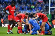 11 May 2019; Brad Barritt, centre, and Alex Lozowski of Saracens console Garry Ringrose of Leinster following the Heineken Champions Cup Final match between Leinster and Saracens at St James' Park in Newcastle Upon Tyne, England. Photo by Brendan Moran/Sportsfile