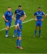 11 May 2019; Leinster players, from left, Tadhg Furlong, James Ryan, Jonathan Sexton and Rob Kearney following the Heineken Champions Cup Final match between Leinster and Saracens at St James' Park in Newcastle Upon Tyne, England. Photo by David Fitzgerald/Sportsfile