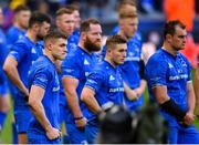 11 May 2019; Garry Ringrose, left, Jordan Larmour, centre, and Rhys Ruddock of Leinster following the Heineken Champions Cup Final match between Leinster and Saracens at St James' Park in Newcastle Upon Tyne, England. Photo by Ramsey Cardy/Sportsfile