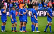 11 May 2019; Leinster players following their defeat in the Heineken Champions Cup Final match between Leinster and Saracens at St James' Park in Newcastle Upon Tyne, England. Photo by Ramsey Cardy/Sportsfile