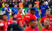 11 May 2019; Leinster players, from left, Robbie Henshaw, Luke McGrath, Jonathan Sexton, Tadhg Furlong and James Ryan following the Heineken Champions Cup Final match between Leinster and Saracens at St James' Park in Newcastle Upon Tyne, England. Photo by Ramsey Cardy/Sportsfile