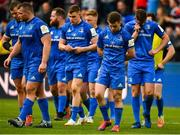 11 May 2019; Leinster players, including Jack McGrath, Michael Bent, Garry Ringrose, Luke McGrath and Ross Byrne after the Heineken Champions Cup Final match between Leinster and Saracens at St James' Park in Newcastle Upon Tyne, England. Photo by Brendan Moran/Sportsfile