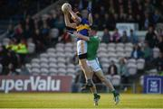 11 May 2019; Brian Fox of Tipperary in action against Seamus O'Carroll of Limerick during the Munster GAA Football Senior Championship quarter-final match between Tipperary and Limerick at Semple Stadium in Thurles, Co. Tipperary. Photo by Diarmuid Greene/Sportsfile
