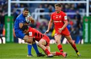 11 May 2019; Rob Kearney of Leinster is tackled by Alex Lozowski of Saracens during the Heineken Champions Cup Final match between Leinster and Saracens at St James' Park in Newcastle Upon Tyne, England. Photo by Brendan Moran/Sportsfile