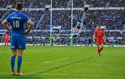 11 May 2019; Owen Farrell of Saracens, right, and Jonathan Sexton of Leinster during the Heineken Champions Cup Final match between Leinster and Saracens at St James' Park in Newcastle Upon Tyne, England. Photo by Brendan Moran/Sportsfile