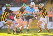 11 May 2019; Liam Rushe of Dublin in action against Kilkenny players, from left, Tommy Walsh, Paul Murphy and Paddy Deegan during the Leinster GAA Hurling Senior Championship Round 1 match between Kilkenny and Dublin at Nowlan Park in Kilkenny. Photo by Stephen McCarthy/Sportsfile