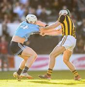 11 May 2019; Liam Rushe of Dublin in action against Paddy Deegan of Kilkenny during the Leinster GAA Hurling Senior Championship Round 1 match between Kilkenny and Dublin at Nowlan Park in Kilkenny. Photo by Stephen McCarthy/Sportsfile