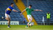11 May 2019; Iain Corbett of Limerick scores his side's first goal despite the efforts of Alan Campbell of Tipperary during the Munster GAA Football Senior Championship quarter-final match between Tipperary and Limerick at Semple Stadium in Thurles, Co. Tipperary. Photo by Diarmuid Greene/Sportsfile