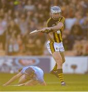 11 May 2019; TJ Reid of Kilkenny shoots to score his side's first goal during Leinster GAA Hurling Senior Championship Round 1 match between Kilkenny and Dublin at Nowlan Park in Kilkenny. Photo by Stephen McCarthy/Sportsfile