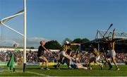 11 May 2019; Liam Rushe of Dublin in action against Kilkenny players, from left, goalkeeper Darren Brennan, Conor Fogarty, Tommy Walsh Enda Morrissey and Paddy Deegan during the Leinster GAA Hurling Senior Championship Round 1 match between Kilkenny and Dublin at Nowlan Park in Kilkenny. Photo by Stephen McCarthy/Sportsfile
