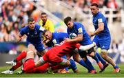 11 May 2019; Luke McGrath of Leinster is tackled by Ben Spencer of Saracens during the Heineken Champions Cup Final match between Leinster and Saracens at St James' Park in Newcastle Upon Tyne, England. Photo by Ramsey Cardy/Sportsfile