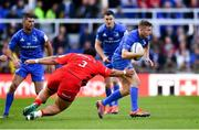 11 May 2019; Jordan Larmour of Leinster is tackled by Titi Lamositele of Saracens during the Heineken Champions Cup Final match between Leinster and Saracens at St James' Park in Newcastle Upon Tyne, England. Photo by Ramsey Cardy/Sportsfile