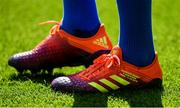 11 May 2019; The boots of Jonathan Sexton of Leinster during the Heineken Champions Cup Final match between Leinster and Saracens at St James' Park in Newcastle Upon Tyne, England. Photo by Ramsey Cardy/Sportsfile