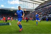 11 May 2019; Jordan Larmour of Leinster ahead of the Heineken Champions Cup Final match between Leinster and Saracens at St James' Park in Newcastle Upon Tyne, England. Photo by Ramsey Cardy/Sportsfile