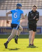 11 May 2019; Dublin athletic development coach Cliodhna O'Connor and Seán Moran prior to the Leinster GAA Hurling Senior Championship Round 1 match between Kilkenny and Dublin at Nowlan Park in Kilkenny. Photo by Stephen McCarthy/Sportsfile
