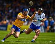 12 May 2019; Shane O'Donnell of Clare in action against Noel Connors of Waterford during the Munster GAA Hurling Senior Championship Round 1 match between Waterford and Clare at Walsh Park in Waterford. Photo by Ray McManus/Sportsfile