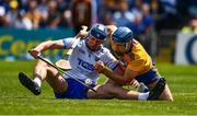12 May 2019; Conor Prunty of Waterford in action against Shane O'Donnell of Clare during the Munster GAA Hurling Senior Championship Round 1 match between Waterford and Clare at Walsh Park in Waterford. Photo by Ray McManus/Sportsfile