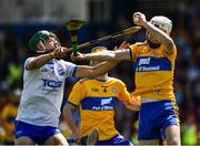 12 May 2019; Cian Galvin of Clare in action against Johnny Burke of Waterford during the Electric Ireland Munster Minor Hurling Championship match between Waterford and Clare at Walsh Park in Waterford. Photo by Ray McManus/Sportsfile