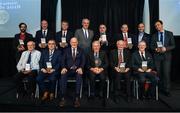 11 May 2019; All of the award winners with Uachtarán Chumann Lúthchleas Gael John Horan during the GAA MacNamee Awards at Croke Park in Dublin. Photo by Piaras Ó Mídheach/Sportsfile
