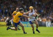 12 May 2019; Peter Hogan of Waterford in action against Tony Kelly of Clare during the Munster GAA Hurling Senior Championship Round 1 match between Waterford and Clare at Walsh Park in Waterford. Photo by Daire Brennan/Sportsfile