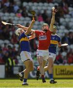 12 May 2019; Luke Horgan of Cork in action against Ryan Walsh of Tipperary during the Electric Ireland Munster Minor Hurling Championship match between Cork and Tipperary at Pairc Ui Chaoimh in Cork. Photo by Diarmuid Greene/Sportsfile