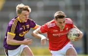 12 May 2019; Andy McDonnell of Louth in action against Martin O'Connor of Wexford during the Leinster GAA Football Senior Championship Round 1 match between Wexford and Louth at Innovate Wexford Park in Wexford. Photo by Matt Browne/Sportsfile
