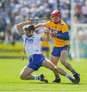 12 May 2019; Philip Mahony of Waterford in action against John Conlon of Clare during the Munster GAA Hurling Senior Championship Round 1 match between Waterford and Clare at Walsh Park in Waterford.  Photo by Daire Brennan/Sportsfile