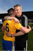 12 May 2019; Clare joint manager Donal Moloney and Colm Galvin after the final whistle during the Munster GAA Hurling Senior Championship Round 1 match between Waterford and Clare at Walsh Park in Waterford. Photo by Ray McManus/Sportsfile
