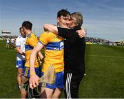 12 May 2019; Clare joint manager Donal Moloney and David Fitzgerald after the final whistle during the Munster GAA Hurling Senior Championship Round 1 match between Waterford and Clare at Walsh Park in Waterford. Photo by Ray McManus/Sportsfile