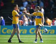 12 May 2019; John Conlon, left, and Shane O'Donnell of Clare celebrate after the Munster GAA Hurling Senior Championship Round 1 match between Waterford and Clare at Walsh Park in Waterford.  Photo by Daire Brennan/Sportsfile