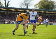 12 May 2019; David McInerney of Clare in action against Shane Bennett of Waterford during the Munster GAA Hurling Senior Championship Round 1 match between Waterford and Clare at Walsh Park in Waterford.  Photo by Daire Brennan/Sportsfile