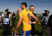 12 May 2019; Clare joint manager Donal Moloney and Cathal Malone after the final whistle during the Munster GAA Hurling Senior Championship Round 1 match between Waterford and Clare at Walsh Park in Waterford. Photo by Ray McManus/Sportsfile