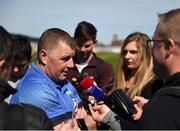 12 May 2019; Waterford manager Paraic Fanning speaks to the media after the Munster GAA Hurling Senior Championship Round 1 match between Waterford and Clare at Walsh Park in Waterford.  Photo by Daire Brennan/Sportsfile