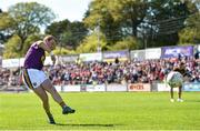 12 May 2019; Kevin O'Grady of Wexford scores goal from a penalty during the Leinster GAA Football Senior Championship Round 1 match between Wexford and Louth at Innovate Wexford Park in Wexford.   Photo by Matt Browne/Sportsfile