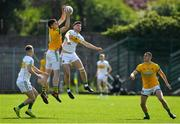 12 May 2019; Adam Flanagan of Meath gains possession of a high ball against Johnny Moloney of Offaly during the Leinster GAA Football Senior Championship Round 1 match between Meath and Offaly at Páirc Tailteann, Navan in Meath. Photo by Brendan Moran/Sportsfile