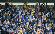 12 May 2019; Clare supporters celebrate their side's first goal during the Munster GAA Hurling Senior Championship Round 1 match between Waterford and Clare at Walsh Park in Waterford.  Photo by Daire Brennan/Sportsfile