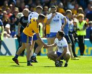 12 May 2019; Colm Galvin of Clare consoles Mikey Kearney of Waterford after the Munster GAA Hurling Senior Championship Round 1 match between Waterford and Clare at Walsh Park in Waterford.  Photo by Daire Brennan/Sportsfile