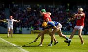 12 May 2019; Eoin Cadogan of Cork in action against Séamus Callanan of Tipperary during the Munster GAA Hurling Senior Championship Round 1 match between Cork and Tipperary at Pairc Ui Chaoimh in Cork. Photo by Diarmuid Greene/Sportsfile